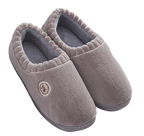 Warm Coffee Mens Indoor Coral House Bedroom Shoes Cattior Slippers qE8Tx6O8