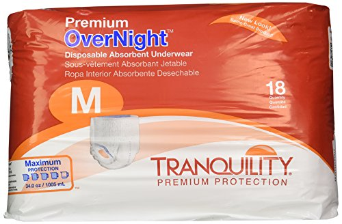 Tranquility Premium OverNight Pull-On Diapers Size Medium Pk/18