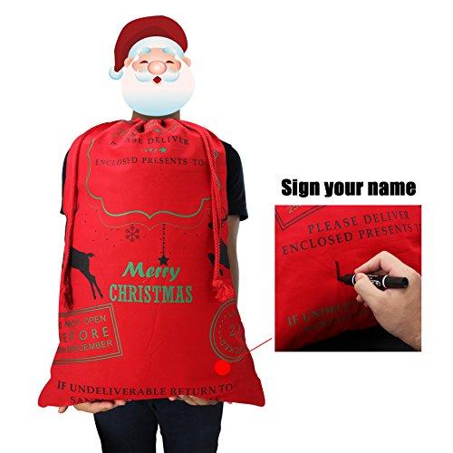 HOOPLE X'mas Present Sacks Christmas Bags for Kids Personalize Christmas Gift Wrap Santa Sacks (Random-6 packs) by Hoople (Image #7)
