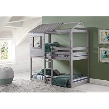 Amazon Com Play House Bunk Beds Free Storage Pockets