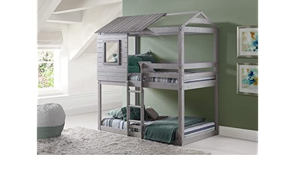 Amazon Com Play House Bunk Beds Free Storage Pockets Kitchen
