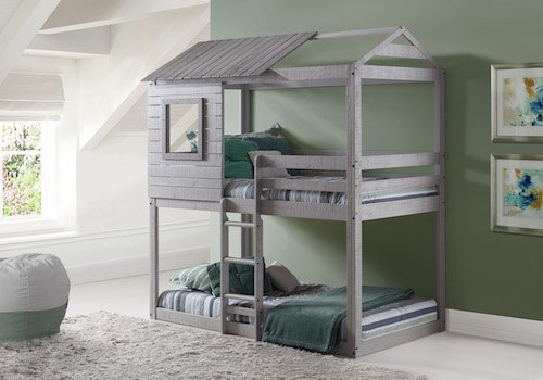 Play House Bunk Beds - Free Storage Pockets by Custom Kids Furniture