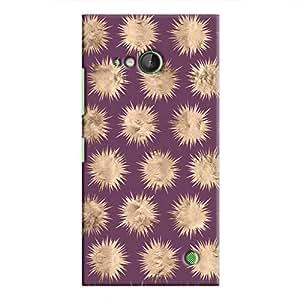 Cover It Up - Sand Star Purple Lumia 730 Hard Case