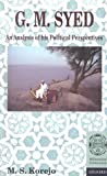 img - for G. M. Syed: An Analysis of His Political Perspectives book / textbook / text book