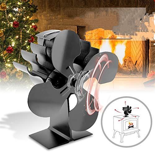CRZJ Ventilador Estufa de leña Fan de Madera de la Chimenea del Ventilador termodinámico portátil de Alta Calidad,...