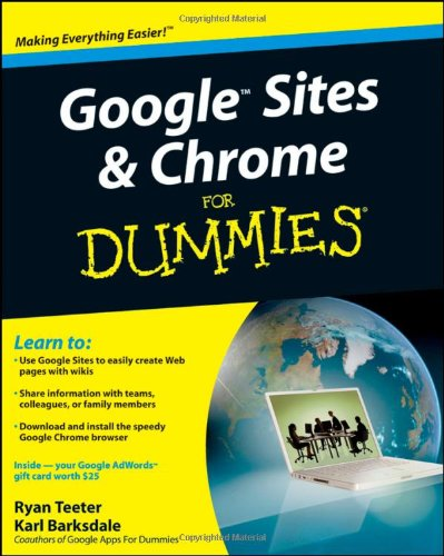 Price comparison product image Google Sites and Chrome For Dummies