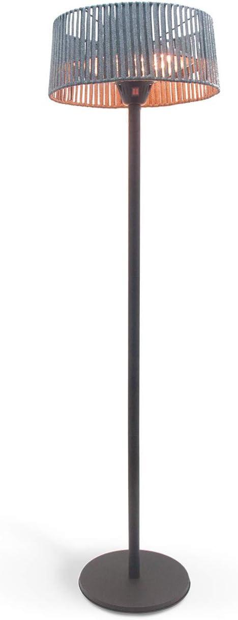 IKOHS SUNSTAR Patio Heater - Estufa de Exterior para Terraza, Jardin, Calefactor Halógeno, Radiador de pie, 1000W - 2000W, Protección IP34, Diseño Exclusivo (Gris)