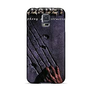 Anti-Scratch Hard Cell-phone Case For Samsung Galaxy S5 With Custom Nice Megadeth Band Pictures EricHowe