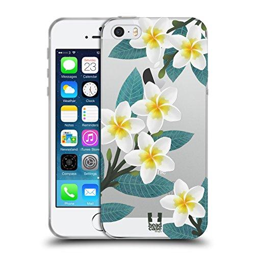 Head Case Designs Plumeria Watercolour Flowers 2 Soft Gel Case for iPhone 5 iPhone 5s iPhone -