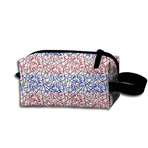 Makeup Cosmetic Bag Animal Lines Pattern Zip Travel Portable Storage Pouch For Men Women by Huayaa