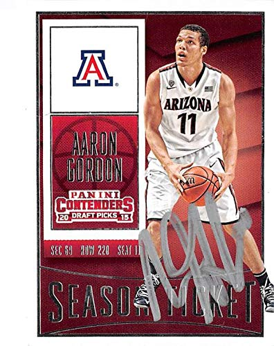 finest selection 9d203 721a9 Aaron Gordon autographed basketball card (University Arizona ...