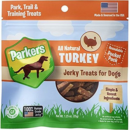 Presidio Natural Pet Company Parkers Jerky Turkey Recipe, 1.25 Oz Review