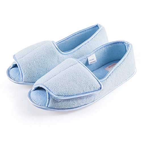 Git-up Women Diabetic Slippers/W Arthritis Edema Adjustable Closure Memory Foam House Shoes Open Toe...
