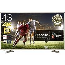 ハイセンス 43V型 4K対応 液晶 テレビ HDR対応 外付けHDD 録画...