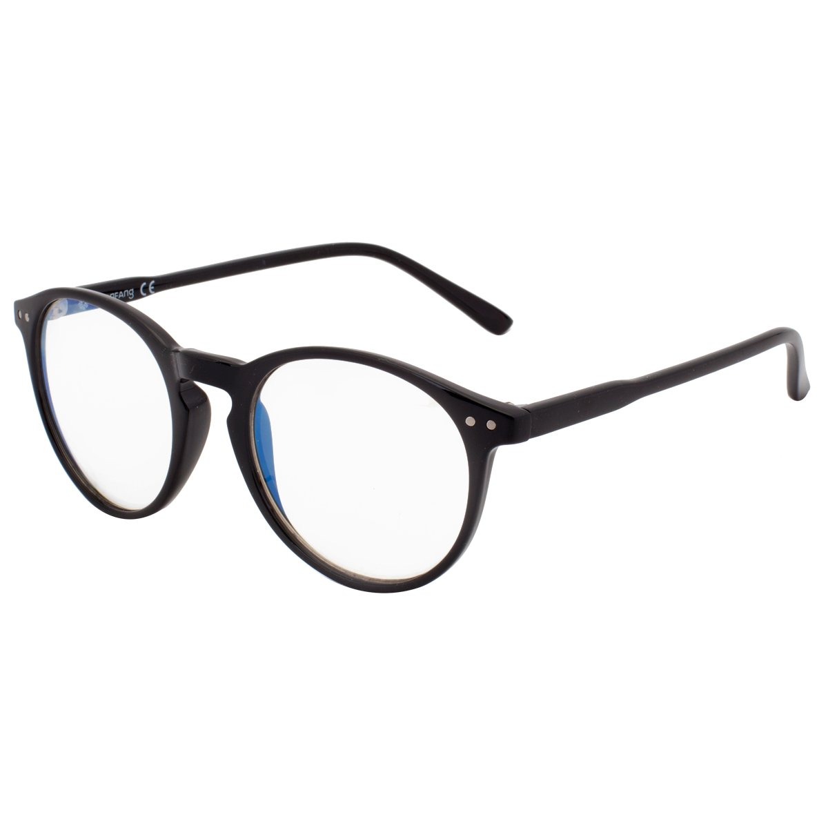 7ef0dd346ca5 VIVIENFANG Blue Light Filter Computer Glasses Clear Lens Horn Rimmed Round  Optical Glasses Frame TR90 T1931A Black: Amazon.ca: Clothing & Accessories