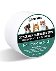 "Petvins Cat Scratch Deterrent - Double Sided Cat Anti Scratch Training Tape for Furniture Door Carpet - Carpet Tape Rug Gripper Tape 3"" x 20 Yards"