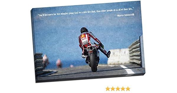 Marco Simoncelli Moto GP impresión DE lienzo Giclée de pared ...