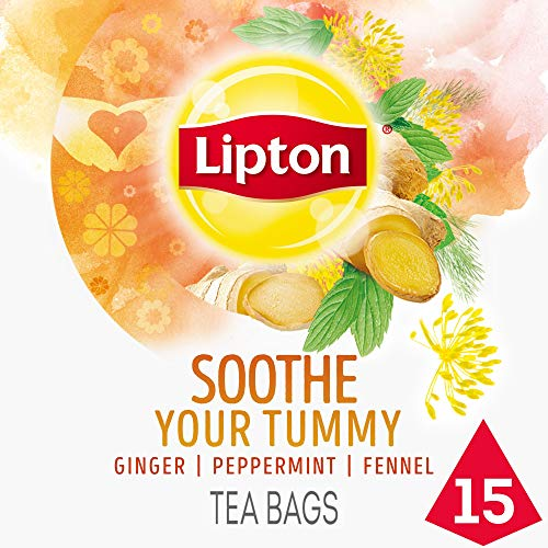 Lipton Herbal Supplement, Soothe Your Tummy, 15 ct