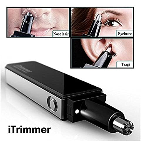 Professional Water Resistant Nose and Ear Hair Trimmer with LED Light Ultra Modern Design  Ergonomic handle design