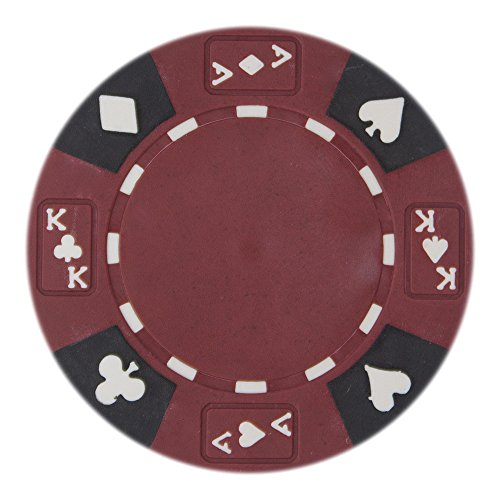 Brybelly 50 Red Ace King Suited Clay Composite 14 Gram Poker Chips