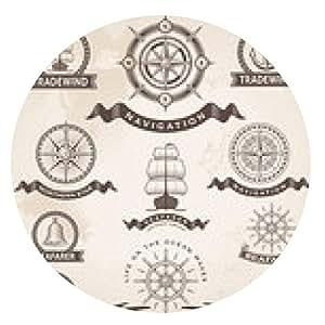 alfombrilla de ratón Conjunto de la vendimia icono de la etiqueta náutica. elementos de diseño de vectores retro. - ronda - 20cm