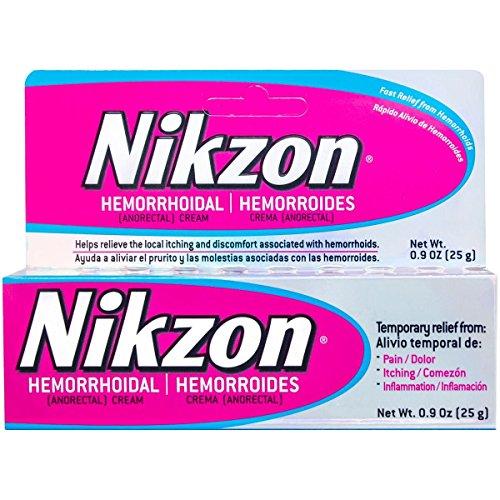 Nikzon Hemorrhoidal Cream, Vasoconstrictor & Anesthetic Cream Pain Itching Inflammation Relief, 0.9 oz