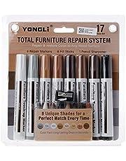 Ontracker Kit de retoque de móveis, 17 peças, marcadores e palitos de enchimento, kit de restauração de arranhões