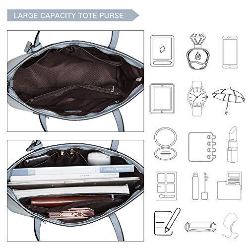 BROMEN Women Handbags Designer Leather Tote Purse Large Capacity Purses and Handbags Shoulder Bag 5