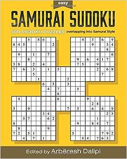 image relating to Samurai Sudoku Printable identify Samurai Sudoku Puzzle E book: 500 Basic Puzzles overlapping