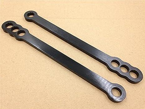 B01BN0DV10 Black Aluminum Lowering Links Compatible with 2006-2010 Suzuki Gsx-R Gsxr 600 750 1000 HONGK