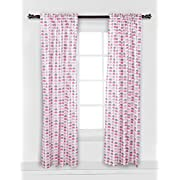 Elephants Pink/Grey Mini Elephants Curtain Panel