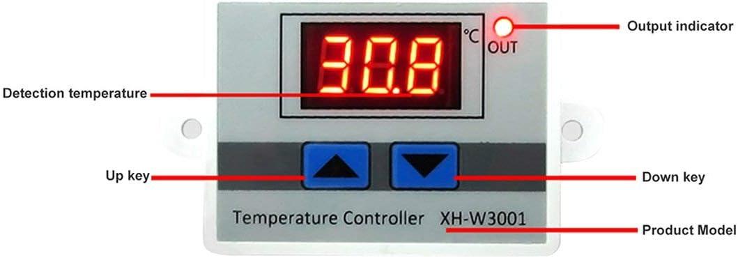 Pandamama Xh-W3001 Digital Thermostat Temperature Switch Microcomputer Temperature Controller Temperature Control Switch