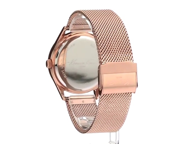 Kenneth Cole New York Women's 'Classic' Quartz Stainless Steel Dress Watch (Model: 10029400)