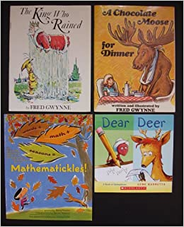 Homonyms and word math set of 4 funny books the king who rained homonyms and word math set of 4 funny books the king who rained a chocolate moose for dinner dear deer mathematickles fred gwynne gene barretta fandeluxe Image collections