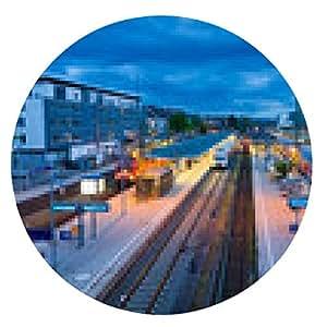alfombrilla de ratón estación de tren Hauptbahnhof Freiburg, Alemania - ronda - 20cm