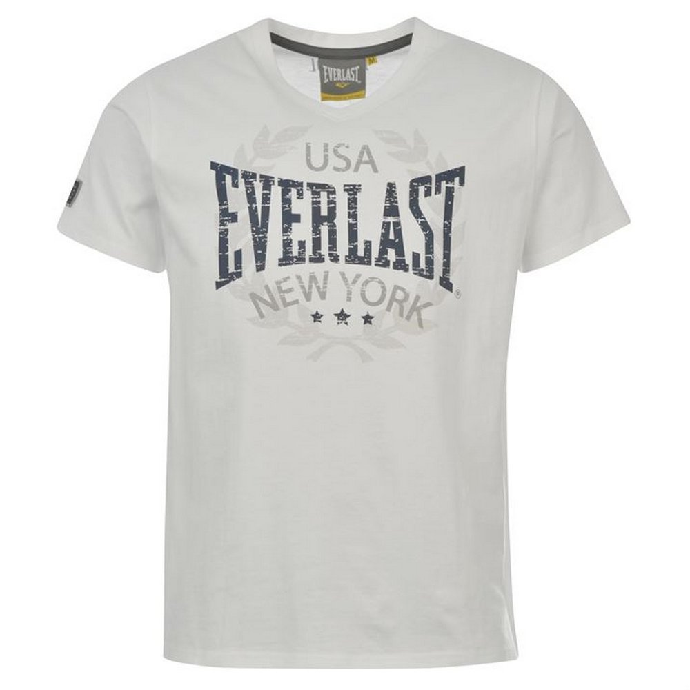 Everlast - Camiseta - Camisetas - para Hombre Blanc/Bleu Marine ...