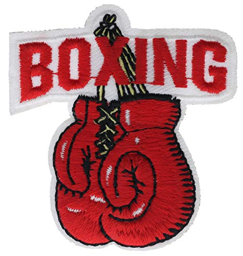 "Boxing with Gloves 2"" Embroidered Patch AVA1045"