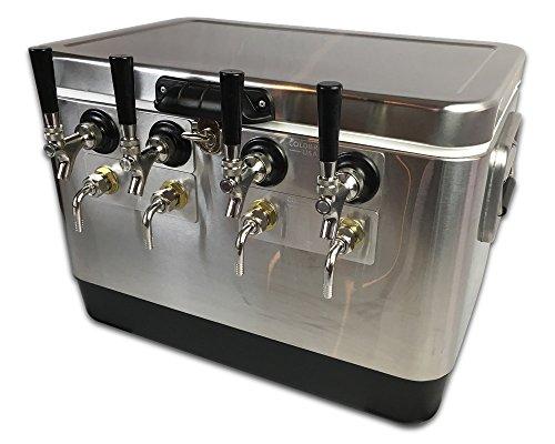 Coldbreak Brewing Equipment CBJB54SBE4 Jockey Box, 4 Tap, Stainless Bartender Edition, 54 quart Cooler, 50' Coils, 0.25'' ID, 0.3125'' OD, Stainless Steel, Silver by Coldbreak Brewing Equipment