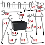 Pegboard Hooks Assortments 115 PK with Metal