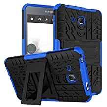 """Tab A 7.0 Inch Tablet Case DWaybox 2in1 Combo Hybrid Armor Rugged Heavy Duty Hard Back Case Cover with kickstand for Samsung Galaxy Tab A 7.0 Inch SM-T280 / T285 / Samsung Tab A6 7.0"""" (Blue)"""