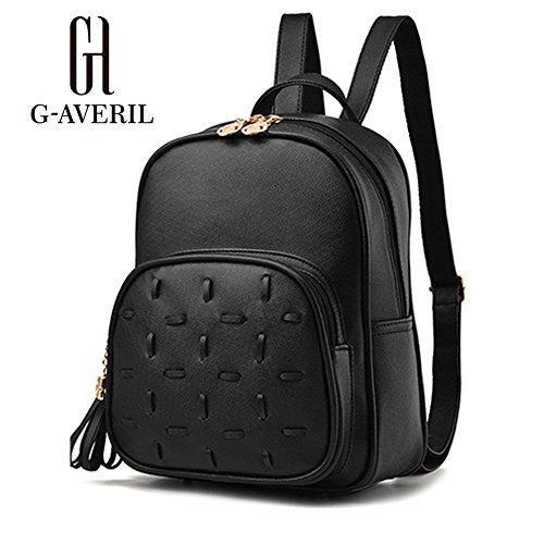 G-AVERIL GA1132-H - Bolso mochila  para mujer Rojo Red negro