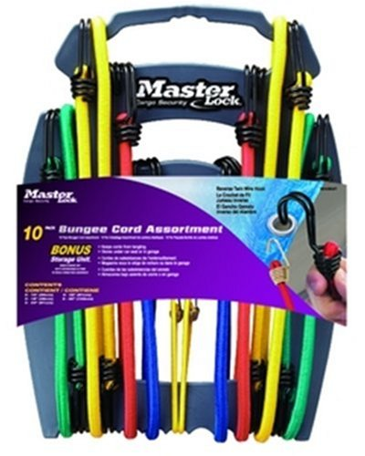 (Master Lock 3043DAT Twin-Wire Bungee Cords with Organizer, 10-Pack)