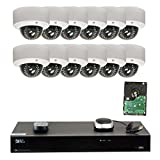 Cheap GW Security 16CH H.265 4K NVR 5-Megapixel (2592 x 1920) 4X Optical Zoom Network Plug & Play Video Security System, 12pcs 5MP 1920p 2.8-12mm Motorized Zoom POE Weatherproof Dome IP Cameras