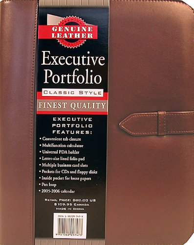 Leather Burgundy Executive Portfolio - Executive Burgundy Leather