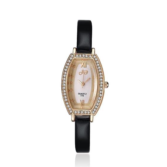 Negro Mujer Reloj tienda online hacha?ufige manera CUARZO aleación de cristal nuevo con umbauten aleación Analog 2.3 cm unregelm??