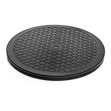Aleratec 12-inch Round Heavy Duty Swivel Rotating Stand with Steel Ball Bearings for Flat Panel TVs, Laptops, Speakers