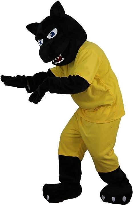 Langteng Sport - Disfraz de leopardo negro con dibujos animados de ...