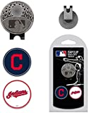 Cleveland Indians Hat Clip w/ 2 Double Sided Golf Ball Markers