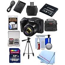[Patrocinado] Canon PowerShot SX420es de 20Mp WiFi Cámara Digital con Zoom 42x (negro) Incluye: Canon NB-11LH batería & Canon Cargador + 9pc 32GB Deluxe Kit de accesorios w/Extreme Electronics paño