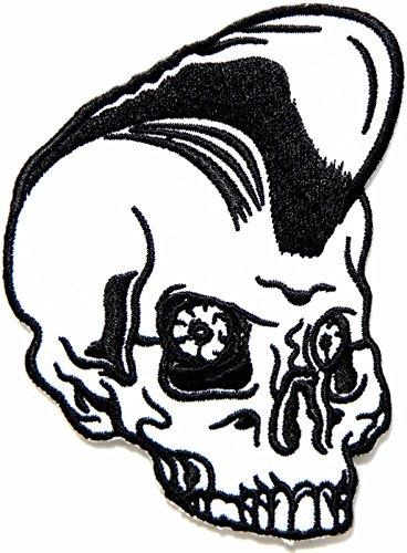 Elvis Presley Black Leather Costume (Skull Elvis Presley Rockabilly Retro Punk Biker Patch Iron On Jacket Cap Costume)